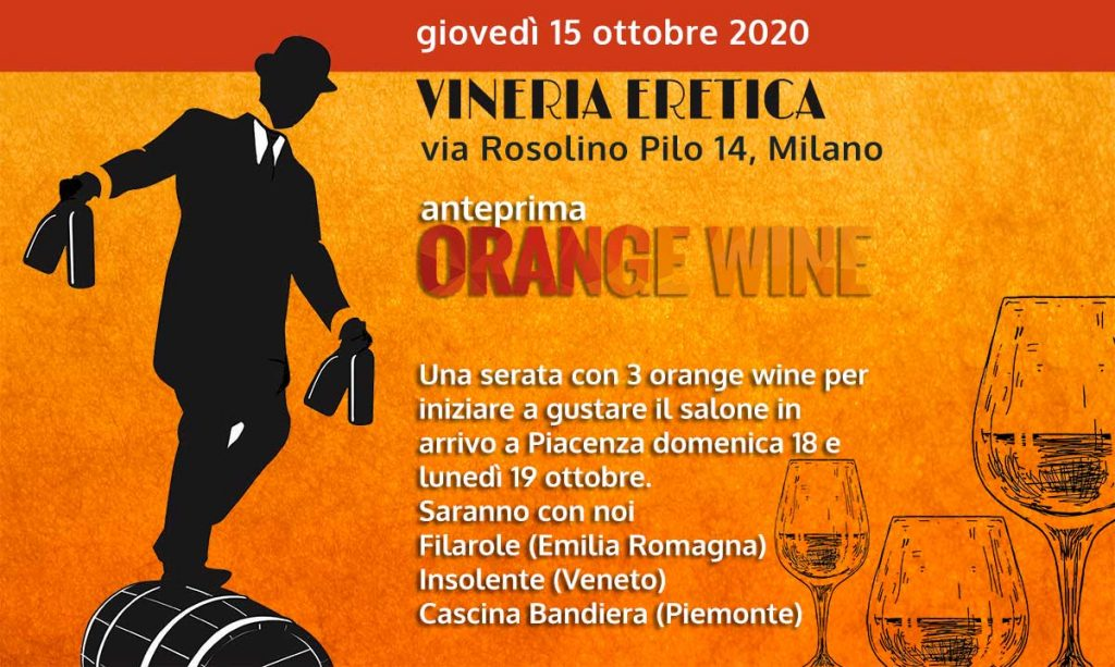 Presentazione orange wine a milano